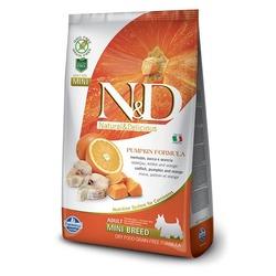 FARMINA N&D беззерновой корм для собак мелких пород Треска с Апельсином и Тыквой мини (N&D Dog GF Pumpkin Codfish & Orange Adult Mini)