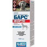 Барс Форте спрей инсектоакарицидный (от блох и клещей) для собак, 100 мл.