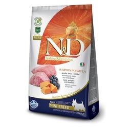 FARMINA N&D беззерновой корм для взрослых собак мелких пород Ягненок с Черникой и Тыквой мини (N&D Dog GF Pumpkin Lamb & Blueberry Adult Mini)