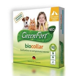 Green Fort Neo Биоошейник для кошек и собак мелких пород, 40 см