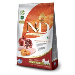 FARMINA N&D беззерновой корм для собак мелких пород Курица с Гранатом и Тыквой мини (N&D Dog GF Pumpkin Chicken & Pomegranate Adult Mini)