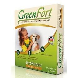 Green Fort БиоКапли от блох и клещей для собак 2-10 кг (3 пипетки)