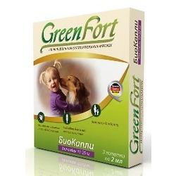 Green Fort БиоКапли от блох и клещей для собак 10-25 кг (3 пипетки)