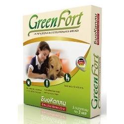 Green Fort БиоКапли от блох и клещей для собак более 26 кг (3 пипетки)