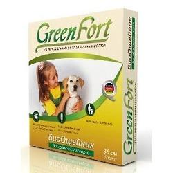 Green Fort БиоОшейник от блох и клещей для мелких пород собак 35 см