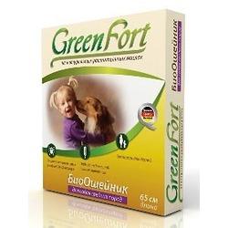 Green Fort БиоОшейник от блох и клещей для средних собак 65 см