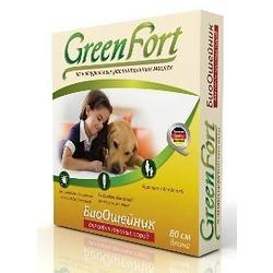 Green Fort БиоОшейник от блох и клещей для крупных собак 80 см