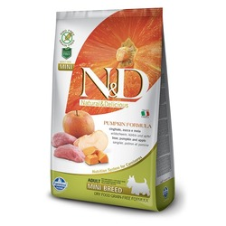 FARMINA N&D беззерновой корм для собак мелких пород Кабан с Яблоком и Тыквой мини (N&D Dog GF Pumpkin Boar & Apple Adult Mini)
