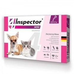 Inspector Капли для собак и кошек от 0,5 до 2 кг (капли от внешних и внутренних паразитов), 1 пипетка