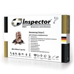 Inspector Капли для собак от 1 до 4 кг (капли от внешних и внутренних паразитов), 1 пипетка