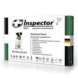 Inspector Капли для собак от 4 до 10 кг (капли от внешних и внутренних паразитов), 1 пипетка