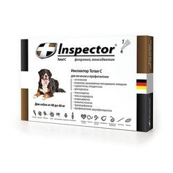 Inspector Капли для собак от 40 до 60 кг (капли от внешних и внутренних паразитов), 1 пипетка