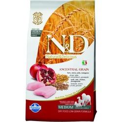 FARMINA N&D LG низкозерновой корм для собак средних пород Курица с Гранатом (N&D Low Grain Chicken & Pomegranate Adult)