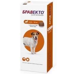 Intervet Бравекто жевательная таблетка от блох и клещей для собак 4,5-10кг, 250мг