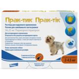 Elanco Прак-тик Капли на холку от блох, вшей, власоедов, иксодовых клещей для собак 2-4,5 кг (3 пипетки)