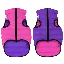 AiryVest куртка двухсторонняя для собак (Collar), цвет розово-фиолетовый