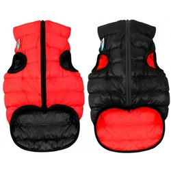 AiryVest куртка двухсторонняя для собак (Collar), цвет красно-черный