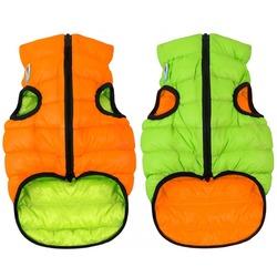AiryVest куртка двухсторонняя для собак (Collar), цвет салатово-оранжевый