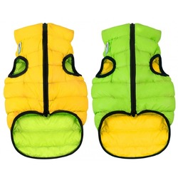 AiryVest куртка двухсторонняя для собак (Collar), цвет салатово-желтый