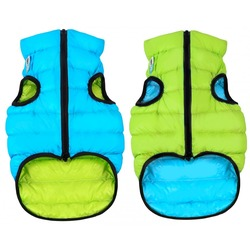 AiryVest куртка двухсторонняя для собак (Collar), цвет салатово-голубой
