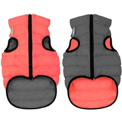 AiryVest куртка двухсторонняя для собак (Collar), цвет кораллово-серый