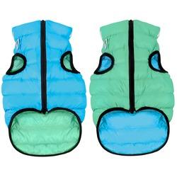 AiryVest Lumi светящаяся куртка двухсторонняя для собак (Collar), цвет салатово-голубой