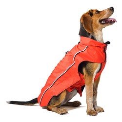 Нано плащ-дождевик с флисовой подкладкой «Nanobraker» Dog Gone Smart, красный