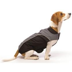Dog Gone Smart Демисезонная нано куртка со съемной флисовой подкладкой NanoBreaker Jacket, черный с серым