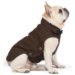 Вязаная нано куртка (свитер) Nano Knit Sweater Dog Gone Smart , цвет коричневый