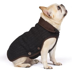 Вязаная нано куртка (свитер) Nano Knit Sweater Dog Gone Smart , цвет серый с коричневым