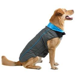 Нано куртка зимняя «Trailblazer» Dog Gone Smart , цвет серый с бирюзовым