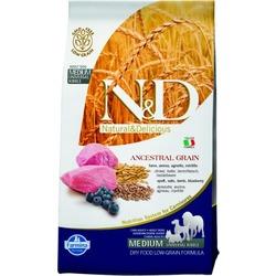 FARMINA N&D LG низкозерновой корм для собак крупных пород Ягненок с Черникой (N&D Low Grain Lamb & Blueberry Adult)