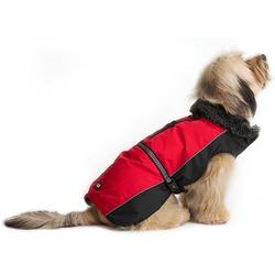 Нано куртка зимняя с меховым воротником «Aspen Parka» Dog Gone Smart, красная