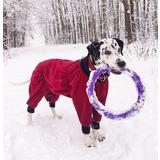 Osso комбинезон для собак из флиса NEW, для сук (цвет красный/бордо), ЗАСТЕЖКА МОЛНИЯ