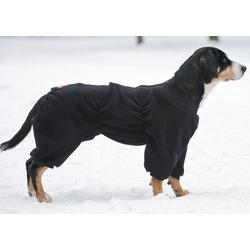 Osso комбинезон для собак из флиса, для кобелей (цвет черный), ЗАСТЕЖКА ЛИПУЧКА