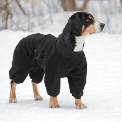 Osso комбинезон для собак из флиса NEW, для кобелей (цвет черный), ЗАСТЕЖКА МОЛНИЯ