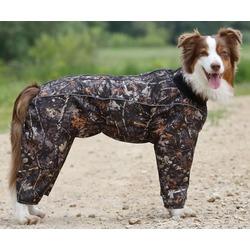 Osso комбинезон для собак утепленный с флисом, для кобелей (цвет хаки)