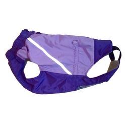 Зоофантазия теплая попона, цвет лиловый, фиолетовый низ, мальчик, спинка 38 см