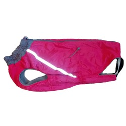 Зоофантазия теплая попона, цвет розовый, девочка, спинка 57 см