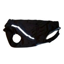 Зоофантазия теплая попона, цвет черный, мальчика, спинка 57 см