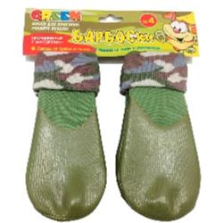 Барбоски носки с высоким латексным покрытием для собак, 4 шт., цвет хаки NEW