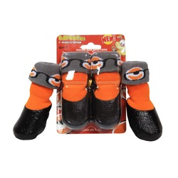 Барбоски водонепронецаемые носки на завязках для прогулки, 4 шт., оранжевые