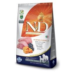 FARMINA N&D беззерновой корм для взрослых собак средних и крупных пород Ягненок с Черникой и Тыквой медиум и макси (N&D Dog GF Pumpkin Lamb & Blueberry Puppy Medium & Maxi)