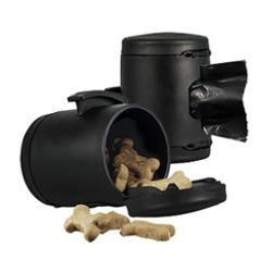 Flexi Vario бокс для лакомства и пакетиков для уборки за собакой Multi Box, цвет черный