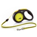Flexi Neon New Classic S тросовый поводок-рулетка 5 м для собак до 12 кг