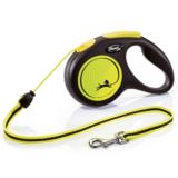 Flexi Neon New Classic М тросовый поводок-рулетка 5 м для собак до 20 кг