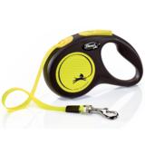 Flexi Neon New Classic S ременной поводок-рулетка 5 м для собак до 15 кг