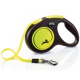 Flexi Neon New Classic М ременной поводок-рулетка 5 м для собак до 25 кг