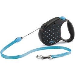Flexi Color M тросовый поводок-рулетка 5м для собак до 12 кг, голубая