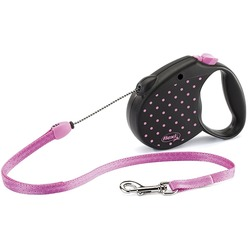 Flexi Color M трос 5м до 20 кг, розовая